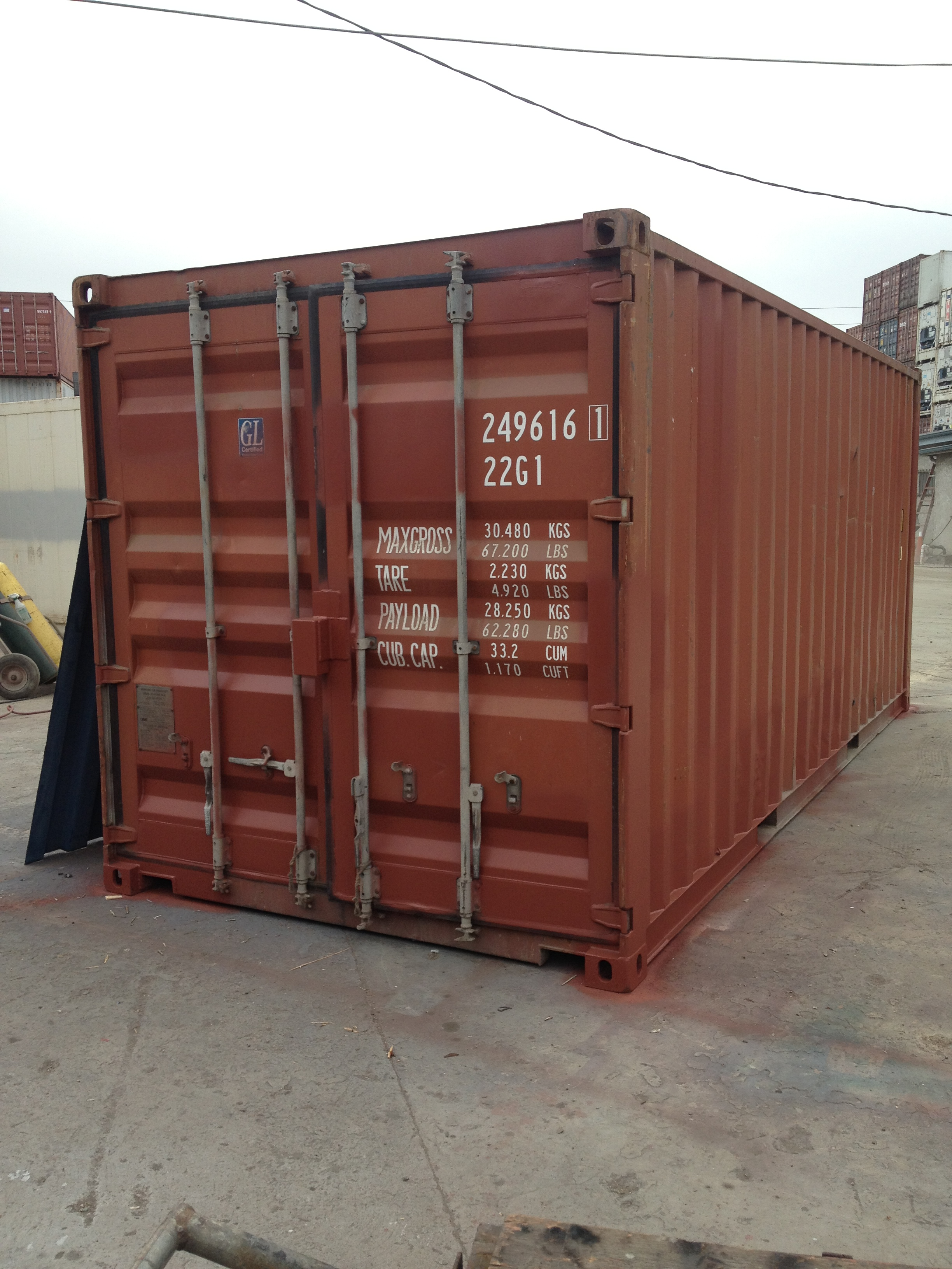 20' Standard Used Dry Container